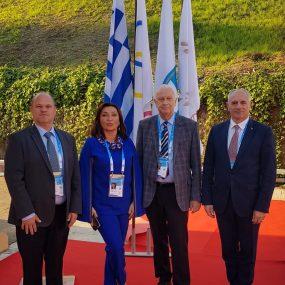 Eiropas Olimpiskās akadēmijas Valdes locekļi. Pirmais no labās - Ivans Klementjevs